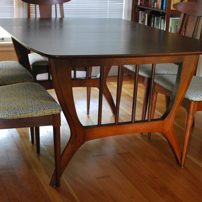 Midcentury Garrison Furniture Co Dining Set The Patchwork Tree Best Century Dining Room Tables
